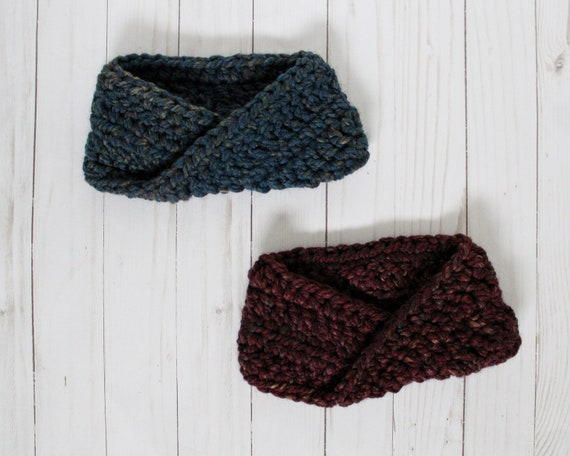 Wool-Blend Crochet Twist Headbands - Adult