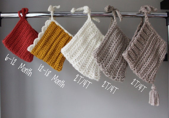 Crochet Pixie Bonnets