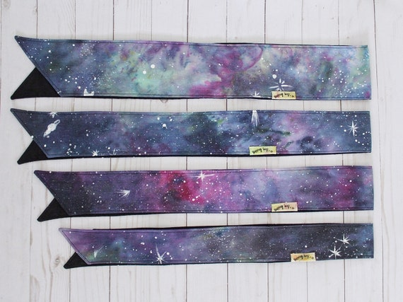 Hand-Dyed Galaxy Headwraps