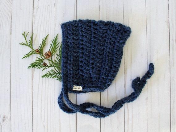 Crochet Pixie Bonnet - 3-6 Month Ready-to-Ship