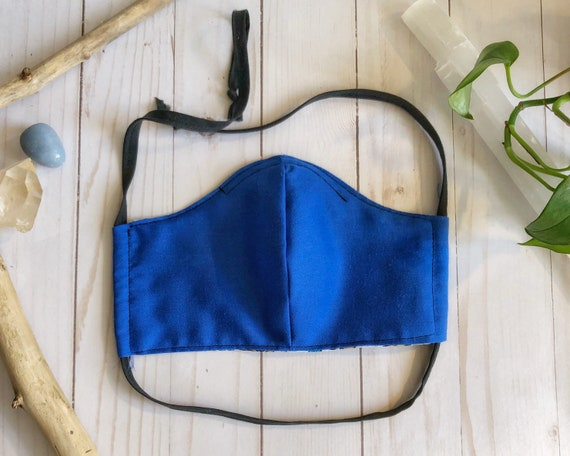 Royal Blue Handmade Washable Non-Medical Face Mask - Adult Large