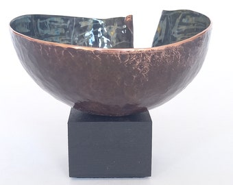 Vitreous enamel and copper small scale sculpture, collectable, handmade and unique. Gift, Joanne Horrobin