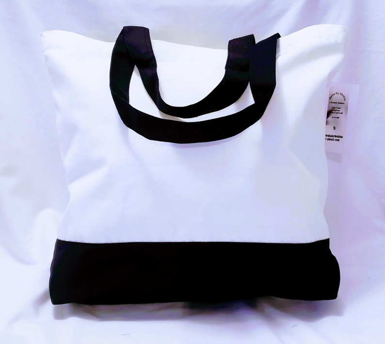 Artist Print Large Tote I would rather 100/% cotton