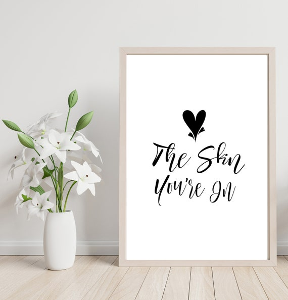 Beauty Salon Skin Care Quote Love The Skin Youre Etsy