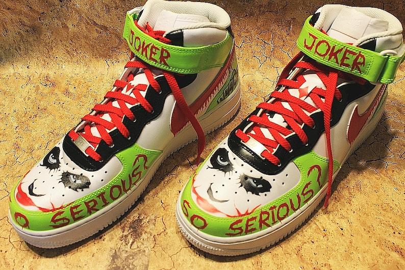 the best attitude b9fff d4e45 Nike Air Force 1 Mid Custom Painted Joker Size EUR 44 UK 9 U