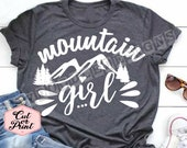 Mountain girl svg the mountains are calling svg mountains dxf outdoor svg mountain life svg mountains png camping svg rockies mountains eps