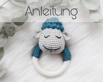 kostenlose Häkelanleitung Babyrassel / Greifring - AnWeRe ... | 270x340