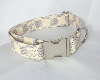 d3baf4f0cb10 LV Blue Damier Inspired Dog Collar