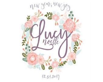 Custom nursery prints to welcome new baby!