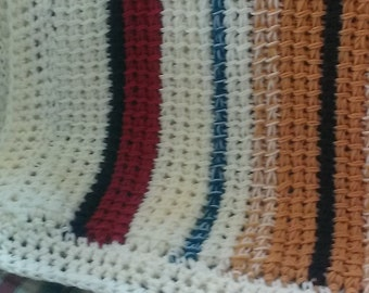Easy Tunisian Crochet Throw/blanket/afghan - a first Tunisian Crochet Project