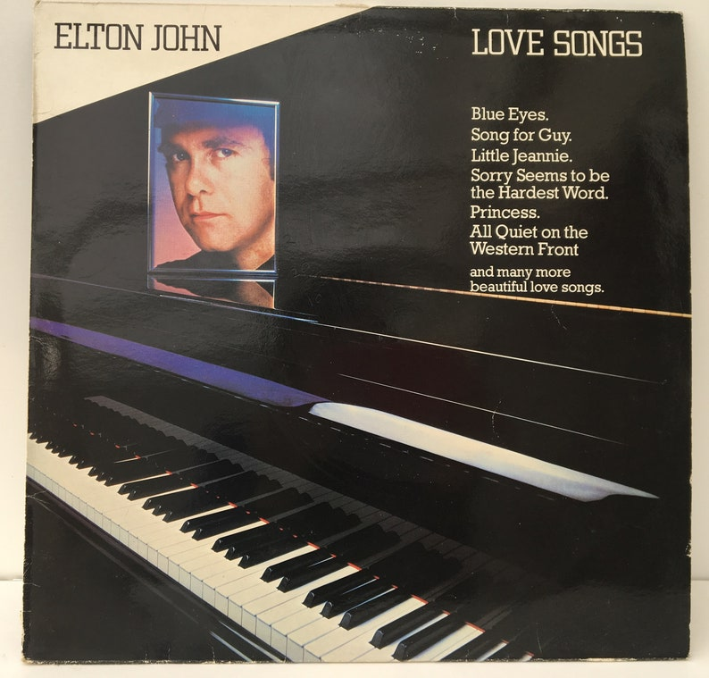 Elton John Vinyl Record - Love Songs: Blue Eyes / Song for Guy /Sorry Seems  to be the Hardest Word