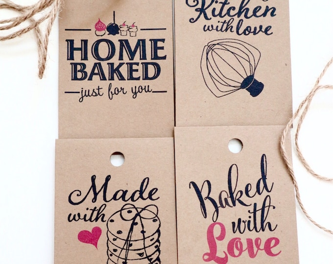 "Featured listing image: Printable folded homemade gifts tags.2.25 ""x 3.75"".Instant download."