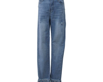 26051813 Fray Skinny Jeans (Denim)