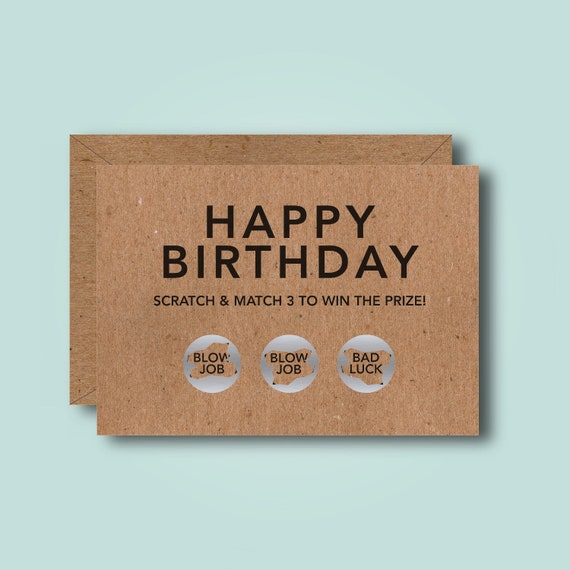 Happy Birthday Funny Scratch Card Rude Adult Naughty 18  Etsy-3675