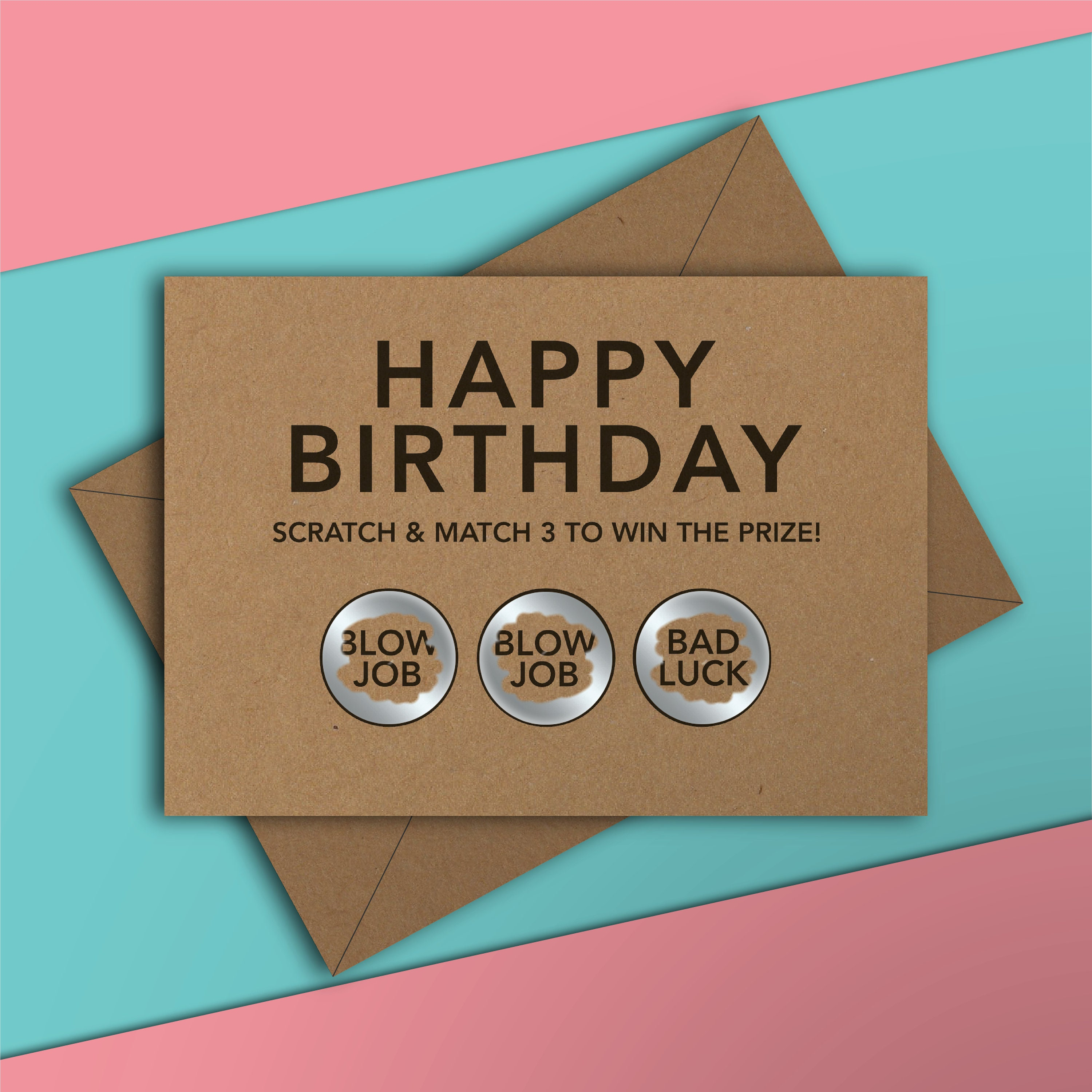 happy birthday funny scratch card rude adult naughty 18  etsy
