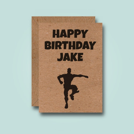 Fortnite Dance Custom Birthday Card Funny Personalised
