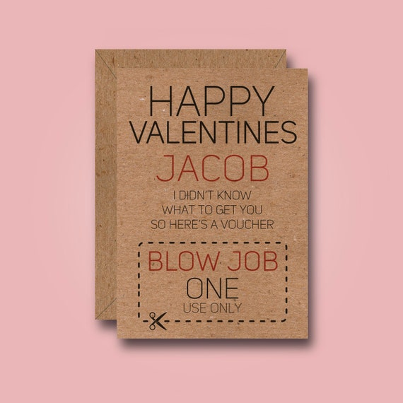 Custom Valentines Voucher Funny Valentines Card Rude Adult  Etsy-7282