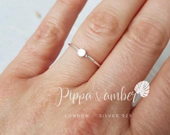 32303ad9f Minimalist Sterling Silver Ring   Delicate ring   Stackable Ring   Simple  Silver Ring   Pippa and Amber