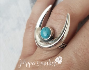 Amber Moon Silver Ring Galaxies Of You My Golden Sky Handmade