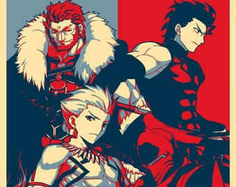 """Poster """"Propaganda"""" Fate Zero - Characters"""