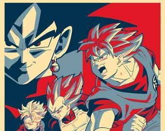 "Poster ""Propaganda"" Dragon Ball Super - Characters"