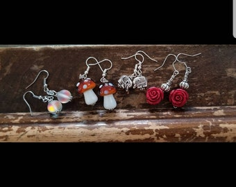 A Set of Earrings with a Flexible Ring StonePearlGlass From The New  Original Zartical Collection