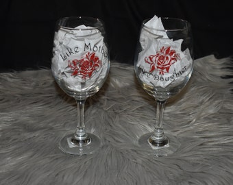 Mother Daughter Wine Glass Set