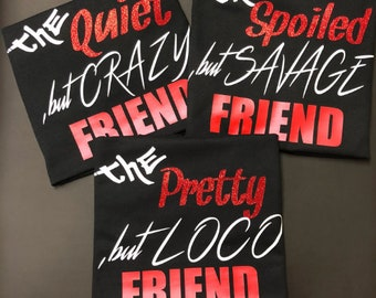 FRIENDS GROUP SHIRTS PersonaliTees Made To Order