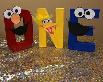 SESAME STREET LETTERS Paper Mache Or Wooden Letters Party Bedroom Decor Made To Order