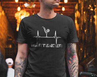 eed3d5f96 Bartender - Bartender Shirt - Bartender T shirt - Bartender Gift -  Mixologist - Shake - Cocktails - Bar - Funny Bartender Shirt - Party Tee