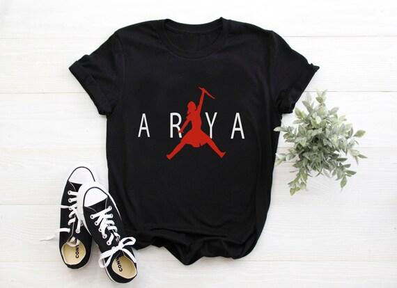 ir de compras cupón Erradicar  Camisa Arya Stark camisa arya Jordan No hoy Camisa de Juego | Etsy