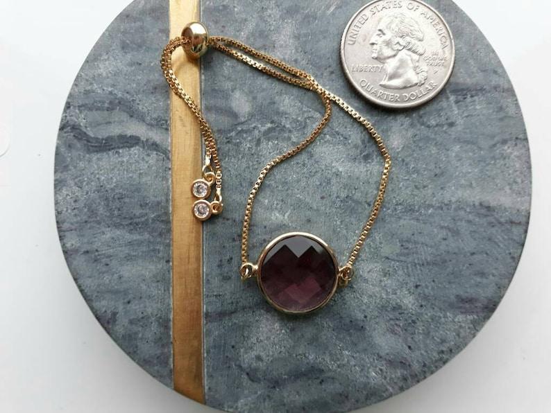 25/% OFF Adjustable Bracelet Brass Glass Charm Bracelet SALE Brown Burgundy Rose Gold Slide Bracelet