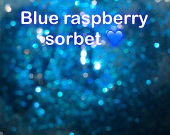 Blue raspberry sorbet
