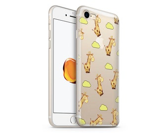 Clear Giraffes phone case design for iPhone Cases, Samsung Cases, Google Pixel Cases and One Plus 6 Cases