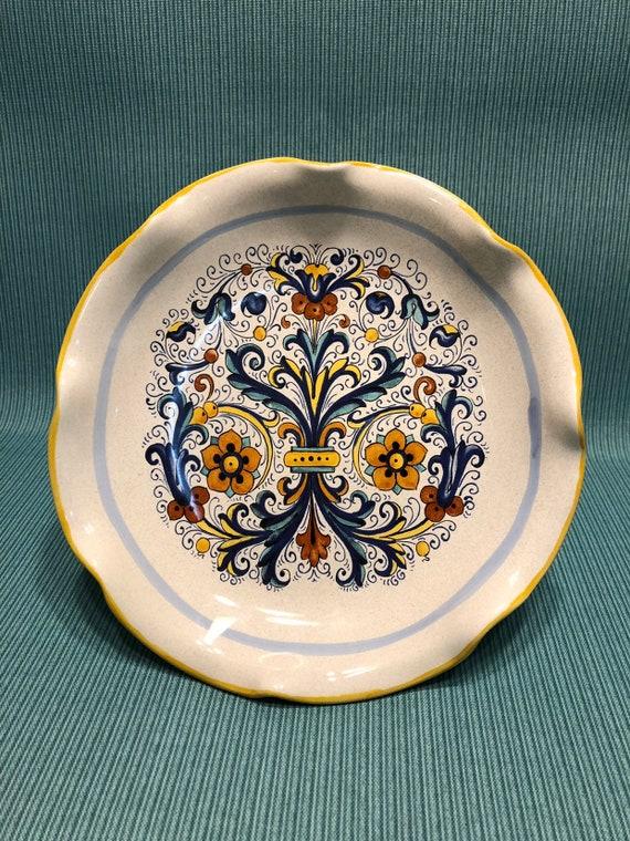 Vintage Deruta Ceramiche Pedestal Serving Plate Made in | Etsy