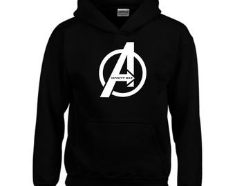497b0d6cfe747 Avengers Hoodies Parody Infinity War A Logo Marvel Comics MCU Iron Man Hulk  Thor Joke Birthday Christmas Xmas Gift Men Sweatshirt Top S-2XL