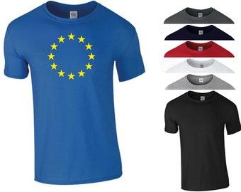 ae2891c9 European Union T Shirt EU Flag Stars UK England Brexit Remain Pro EU Funny  Joke Birthday Gift Men Tee Top S-5XL