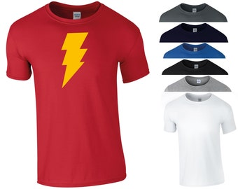 e1d188e95f1a Shazam T Shirt Lightening Superhero DCEU DC Comics Superman Batman Funny  Birthday Halloween Costume Christmas Xmas Gift Kids Children Top