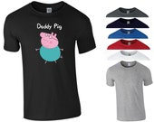 Daddy Pig T Shirt Father 39 s Day Present Gift Dad Daddy Papa Uncle Funny Joke Peppa Pig Funny Joke Birthday Gift Men Tee Top S-5XL