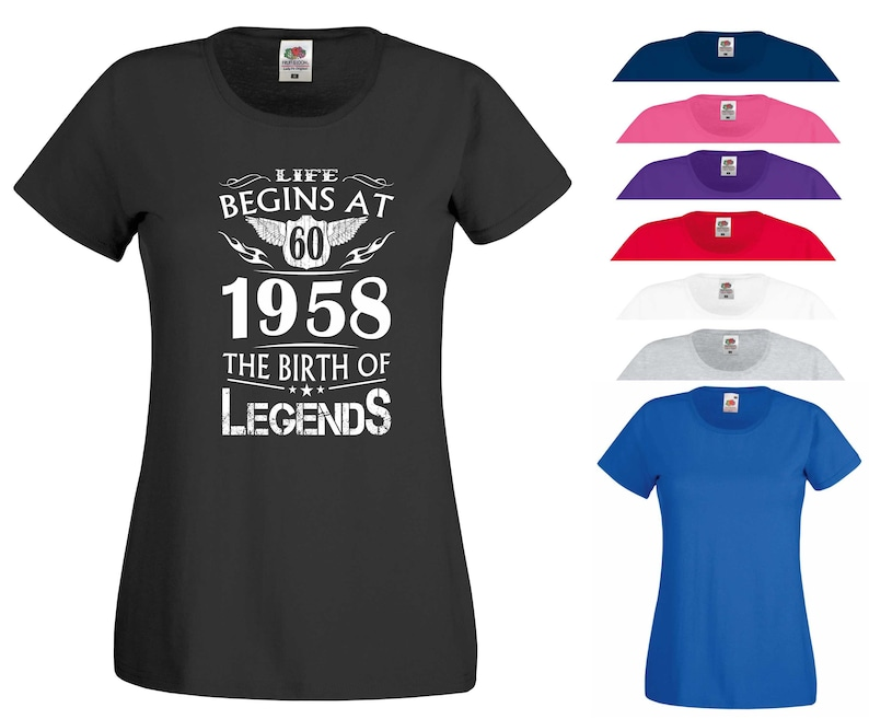 Life Begins at 40 T Shirt Birth of Legends Forty 40th Birthday Gift Women Top