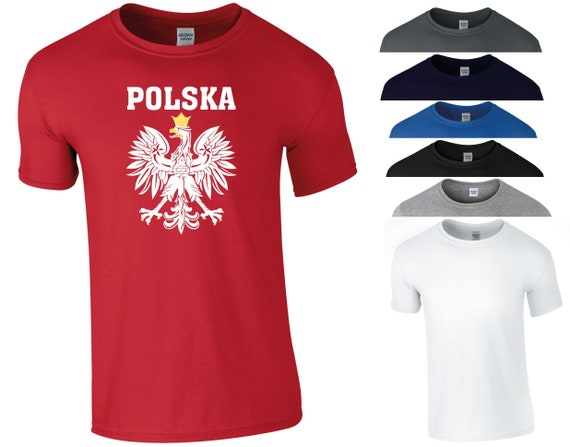 Pologne Polska T Shirt Football World Cup 2018 Russie polonais Football Fans football Golden Eagle drôle blague anniversaire cadeau hommes Tee Top S-5XL