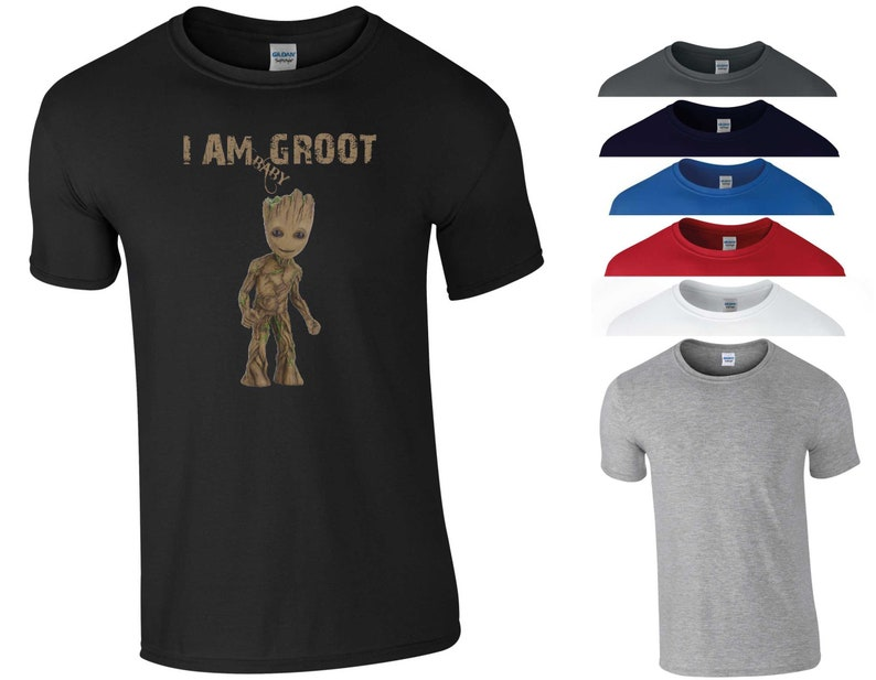 73b66d037 I am Baby Groot T Shirt Guardians of The Galaxy GoTG Avengers | Etsy