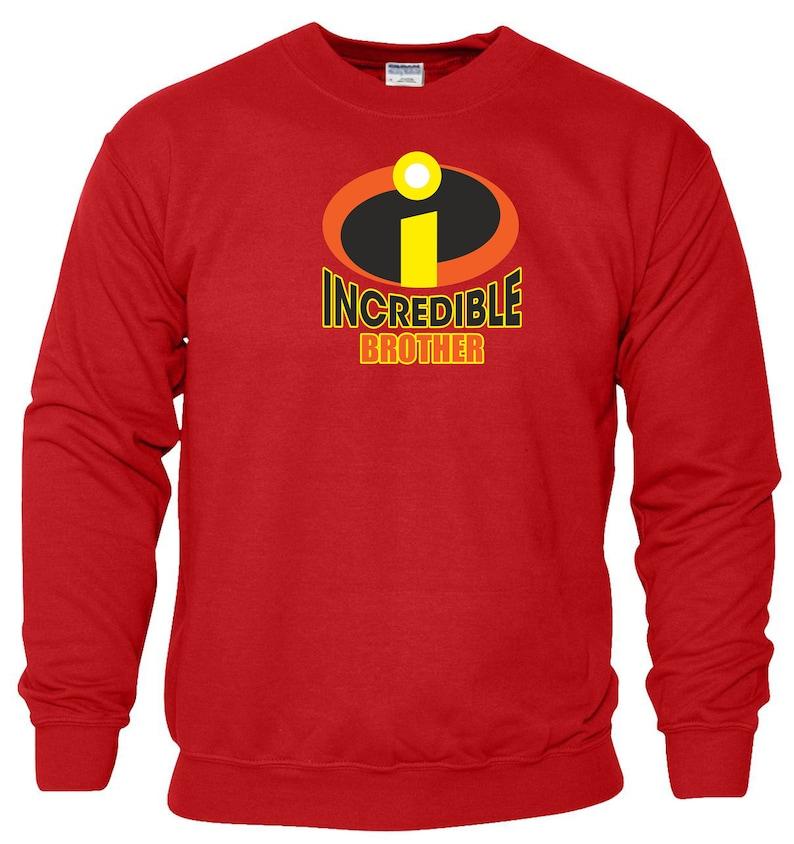 Incredible Brother Sweatshirt The Incredibles Disney Pixar Anime Daddy Dad Father Day Joke Birthday Christmas Xmas Jumper Gift Men Top S-2XL