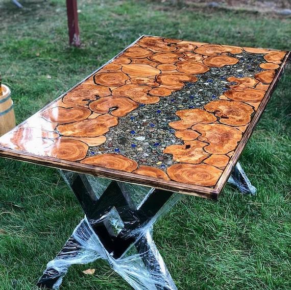 Tisch, Epoxidharz Olivenbaum Tisch, Harz Tisch, einzigartige Tisch, Dekor Tisch.