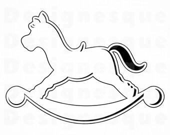 Sagoma Cavallo A Dondolo Disegno.Sagoma Cavallo A Dondolo Stampae Colorare
