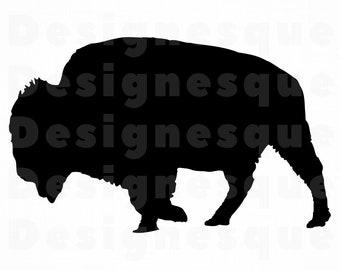 Bison Outline Svg Bison Svg Buffalo Svg Bison Clipart Etsy