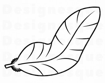 0b34b4b0 Feather Outline #6 SVG, Feather SVG, Quill SVG, Feather Clipart, Feather  Clipart, Files for Cricut, Cut Files For Silhouette, Dxf, Png, Eps