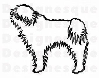 Puli SVG Dogs Silhouette PNG JPG Pdf Eps Digital Graphic Files
