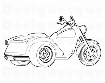 Motorcycle Outline Etsy