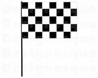 Checkered Flag SVG Racing Checker Svg Clipart Files For Cricut Cut Silhouette Dxf Png Vector